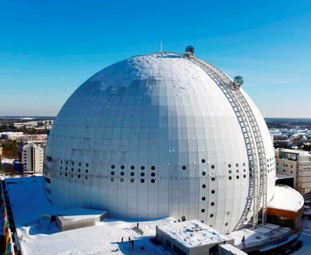 STOCKHOLM 100224 Globen SkyviewFoto: Sören AnderssonCOPYRIGHT SÖREN ANDERSSON